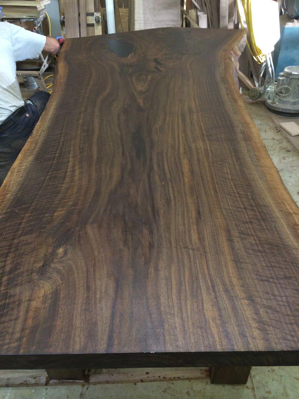 Live edge black walnut dinning room table