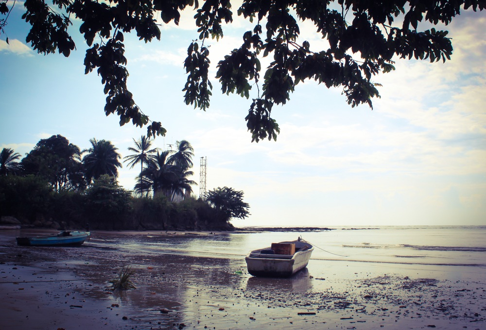 On the beach near Libreville.