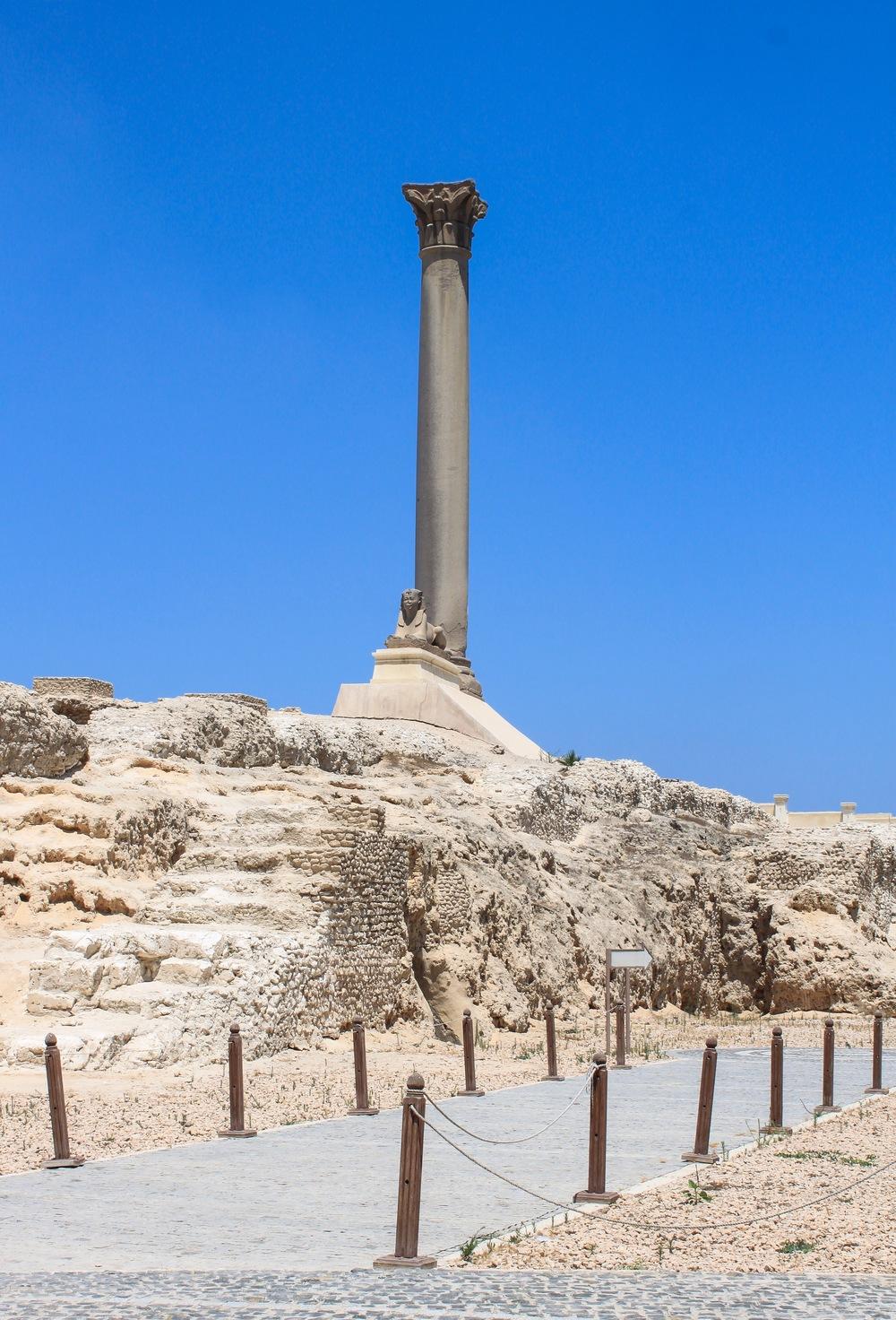 View of Pompey's Pillar