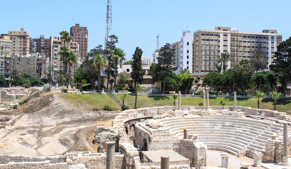 View of the Roman Amphitheater
