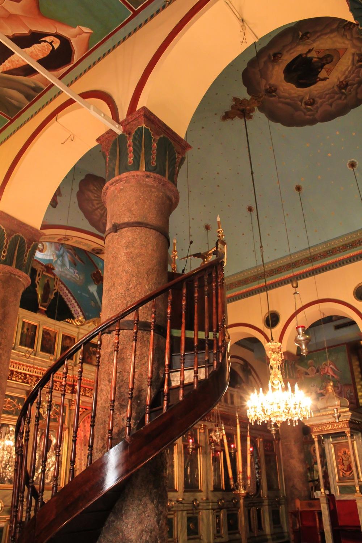 View inside Saint Saaba Church