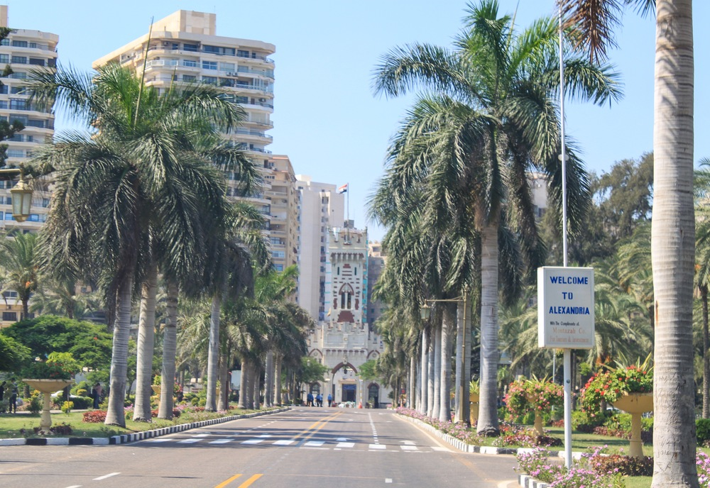 Road leaving Montaza Gardens
