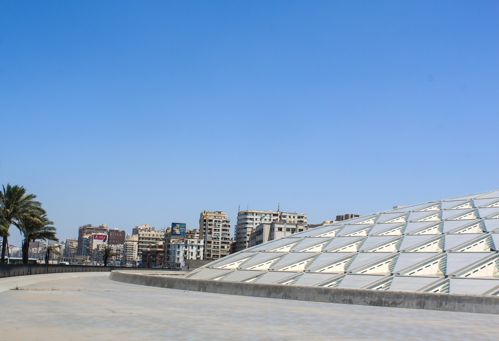 View of the Bibliotheca Alexandrina
