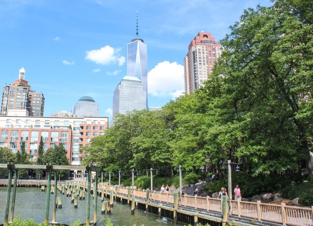Walk along Battery Park