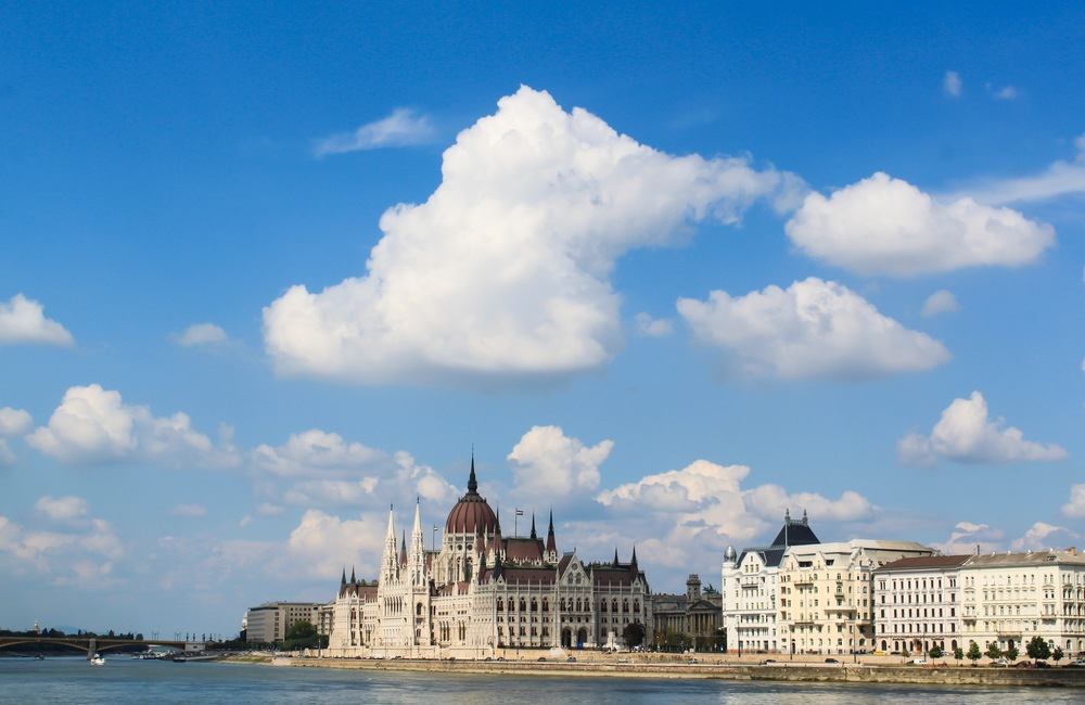 View of Budapest from the Chain Bridge