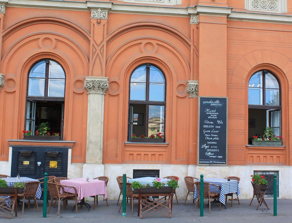 Cafe along the Danube
