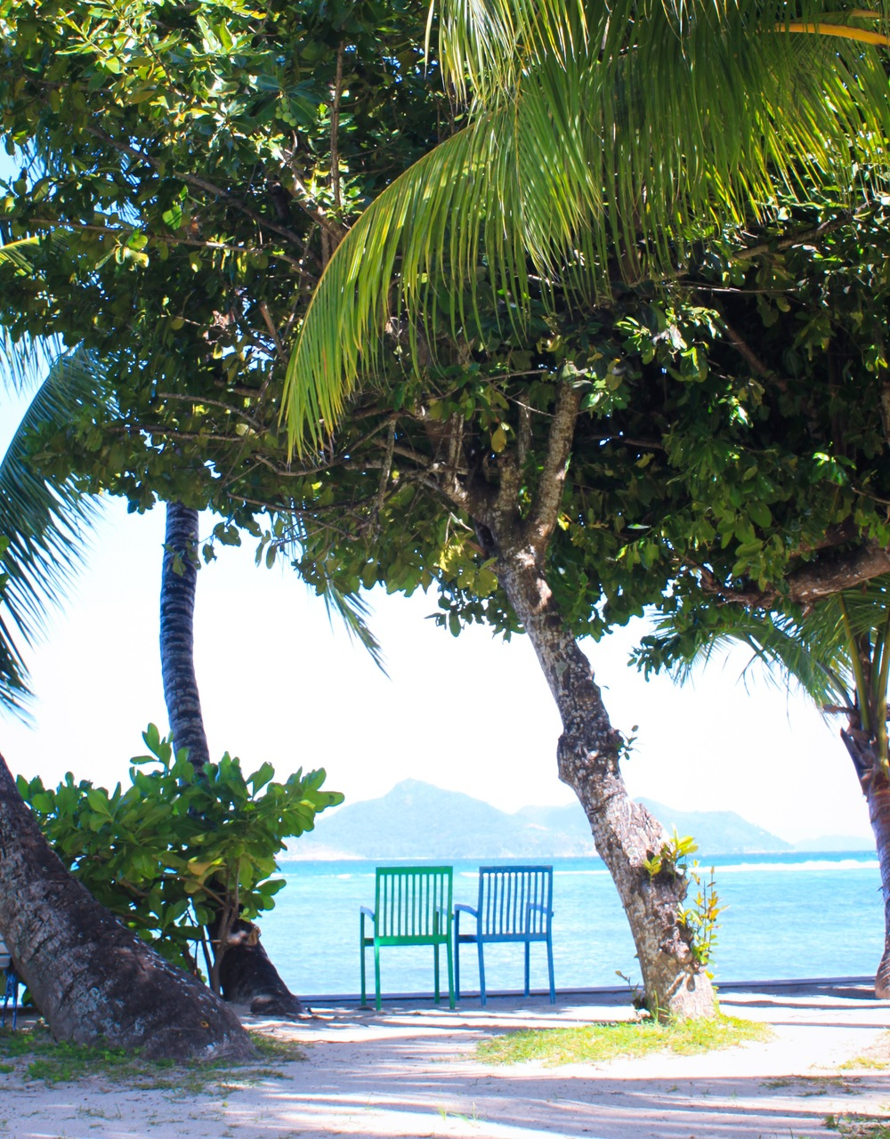VIew outside of the La Digue Island Lodge