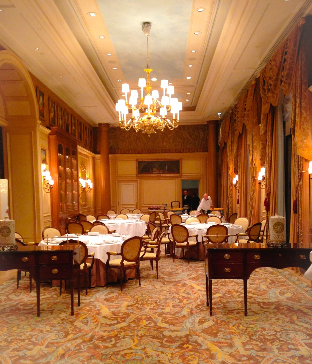 {View of one of the ballrooms typically used for smaller weddings}