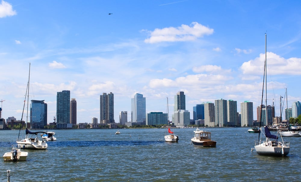 View of Jersey City from Battery Park