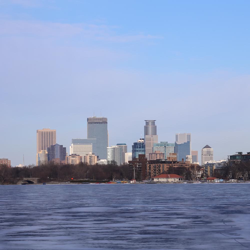 View of Downtown Minneapolis from Lake Calhoun