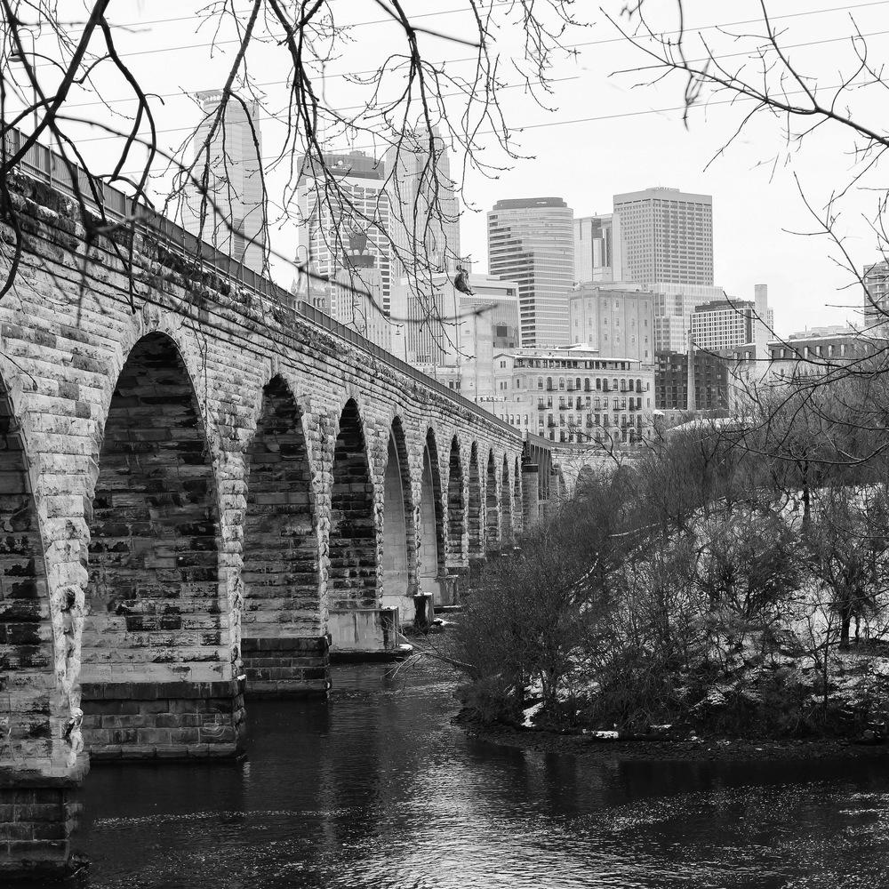 Stone Arch Bridge and Downtown Minneapolis