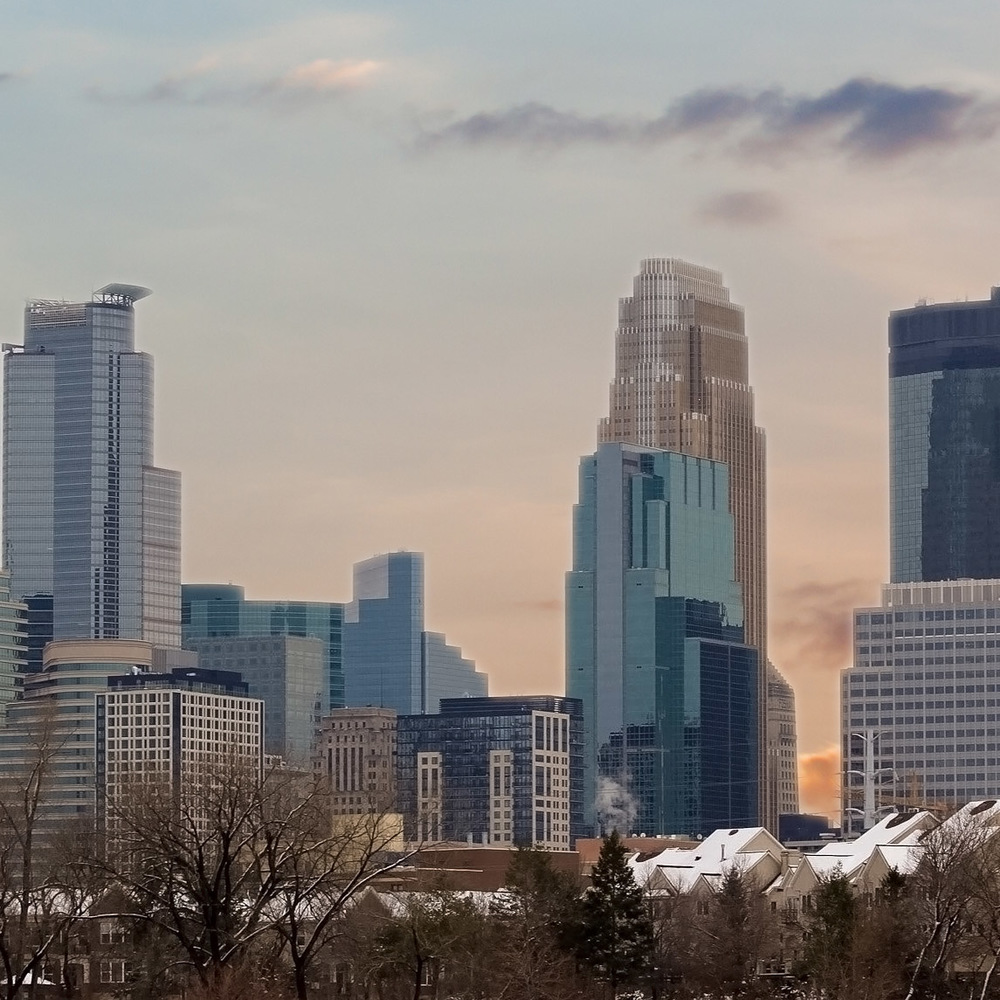 View of Downtown Minneapolis from Boom Island Park