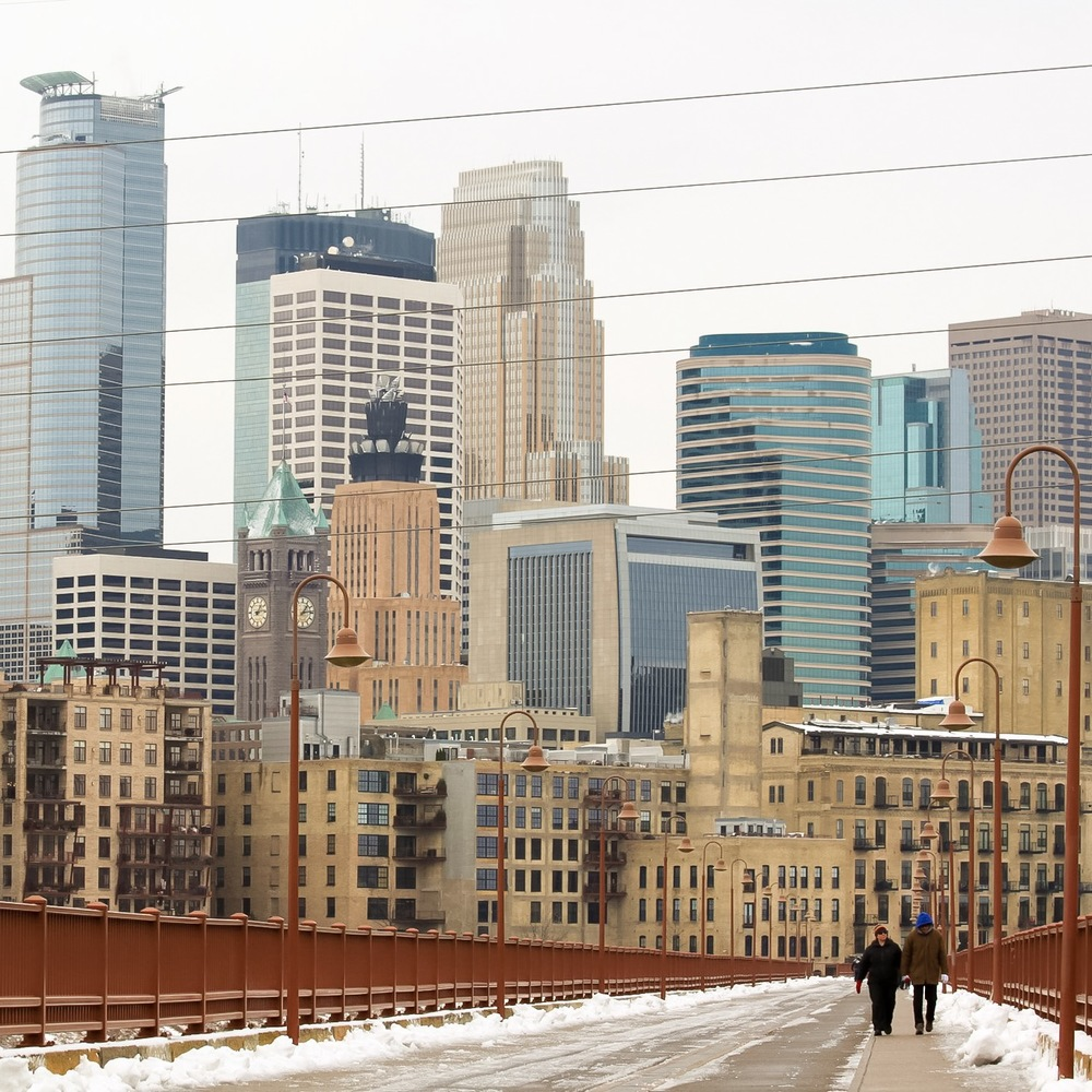 Stone Arch Bridge View of Minneapolis