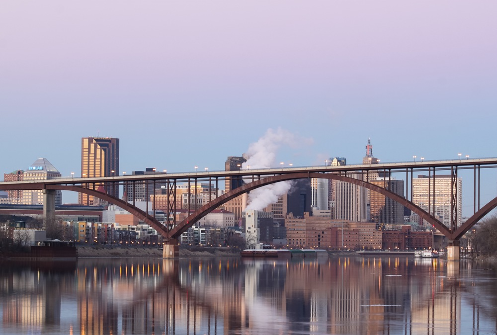 View of High Bridge and Downtown St. Paul