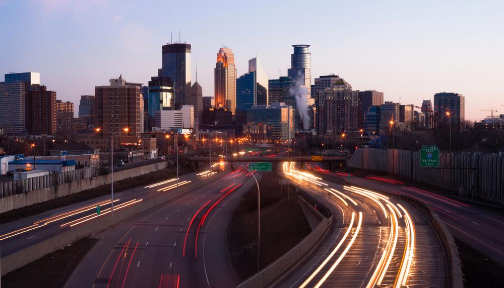 Downtown Minneapolis Skyline (Image via Adobe Stock)