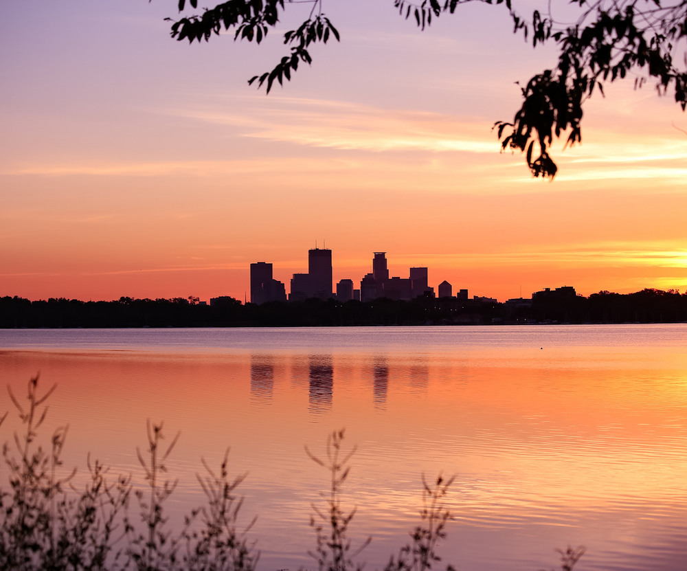 Sunrise over Lake Calhoun Minneapolis, Minnesota