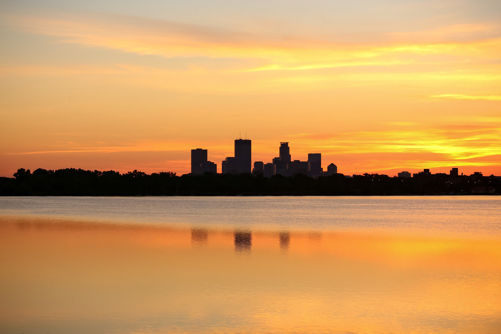 Golden Glow Over Lake Calhoun Minneapolis, Minnesota