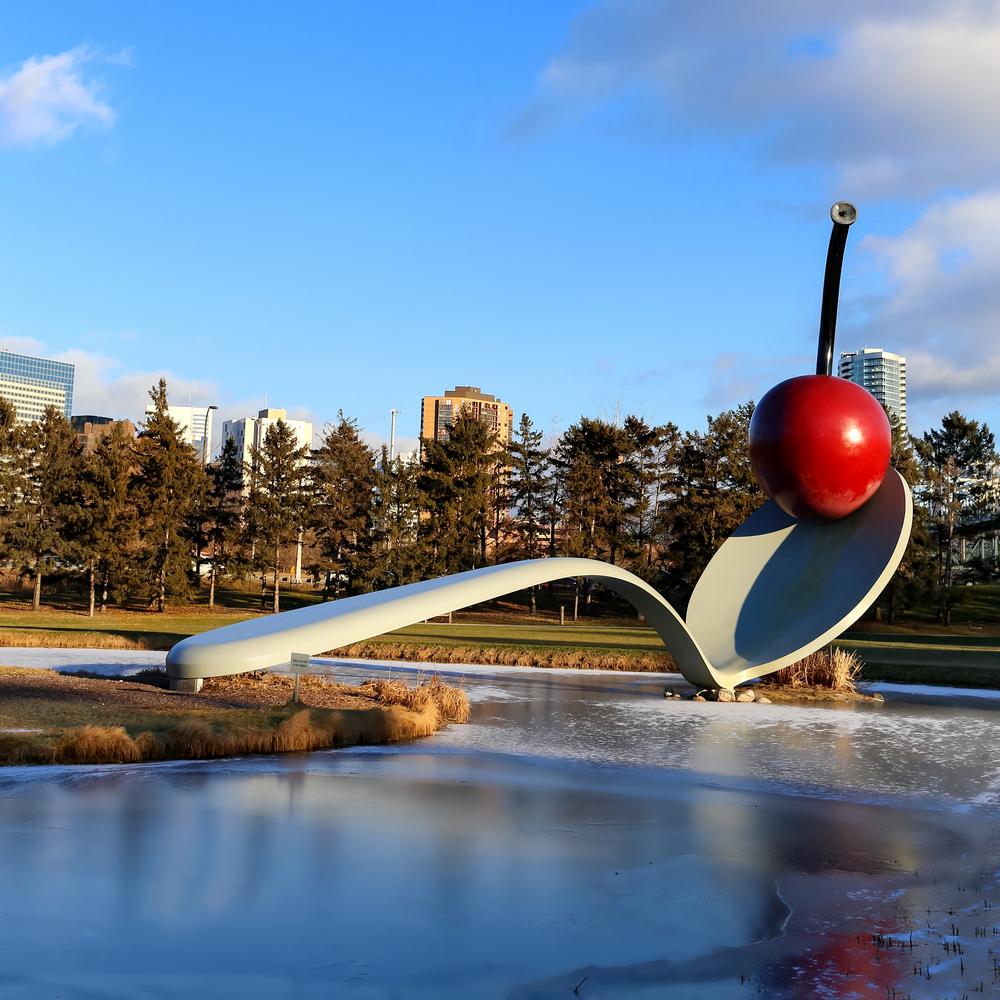 """Cherry in the Spoon"" Minneapolis Sculpture Garden"