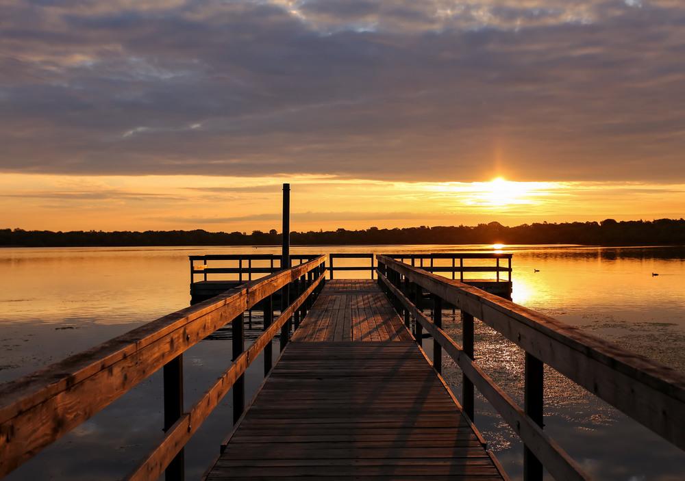Morning sunrise over Lake Harriet