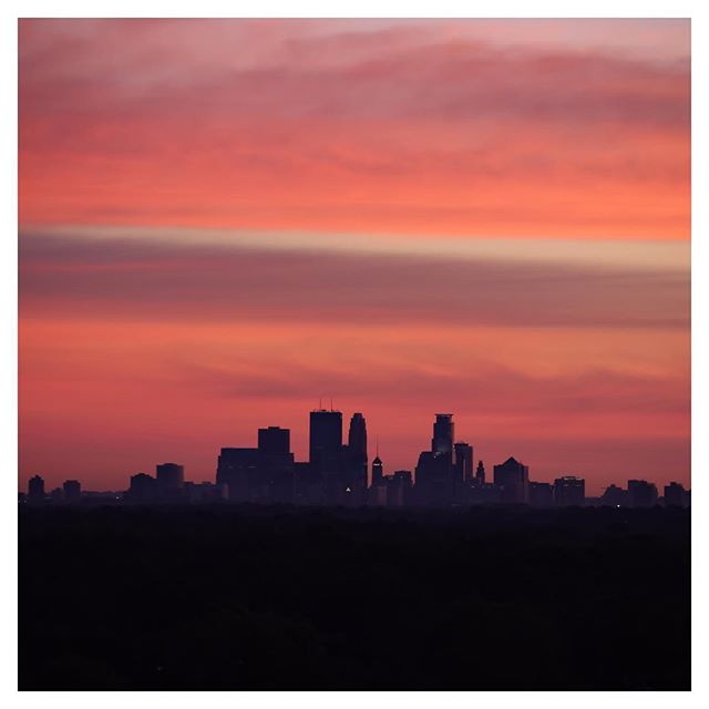 Morning glow over Minneapolis
