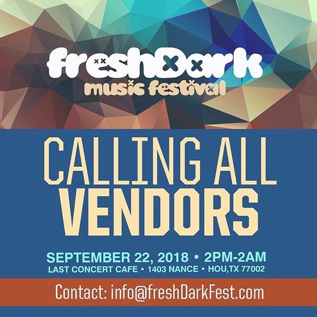 Calling Vendors! #musicfestival