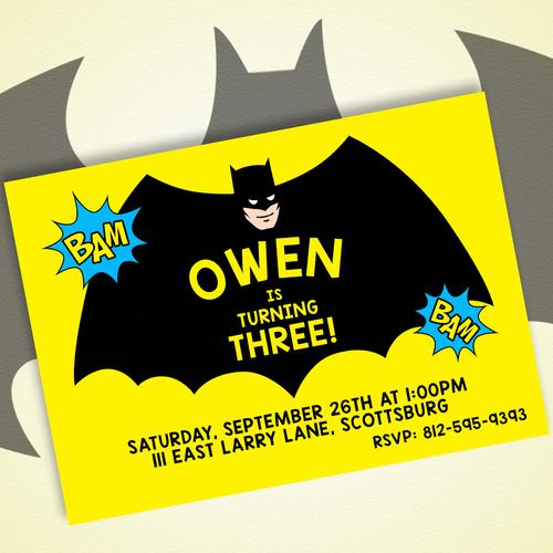 Eleven eleven pixel productions batman birthday invitation diy batman birthday invitation diy filmwisefo