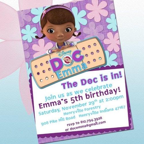 Eleven eleven pixel productions doc mcstuffins birthday invitations doc mcstuffins birthday invitations filmwisefo