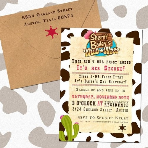 Eleven Eleven Pixel Sheriff Callie Birthday Invitations