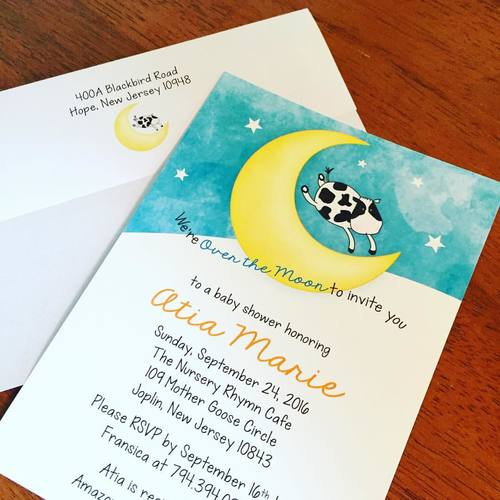 Eleven eleven pixel productions cow jumped over the moon baby shower cow jumped over the moon baby shower invitations filmwisefo