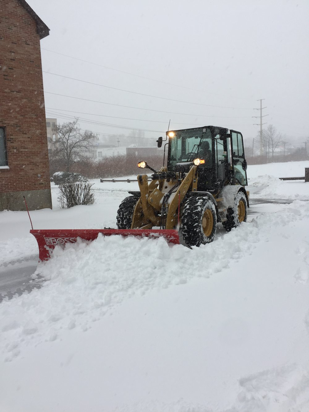 snow removal from scenic landscaping