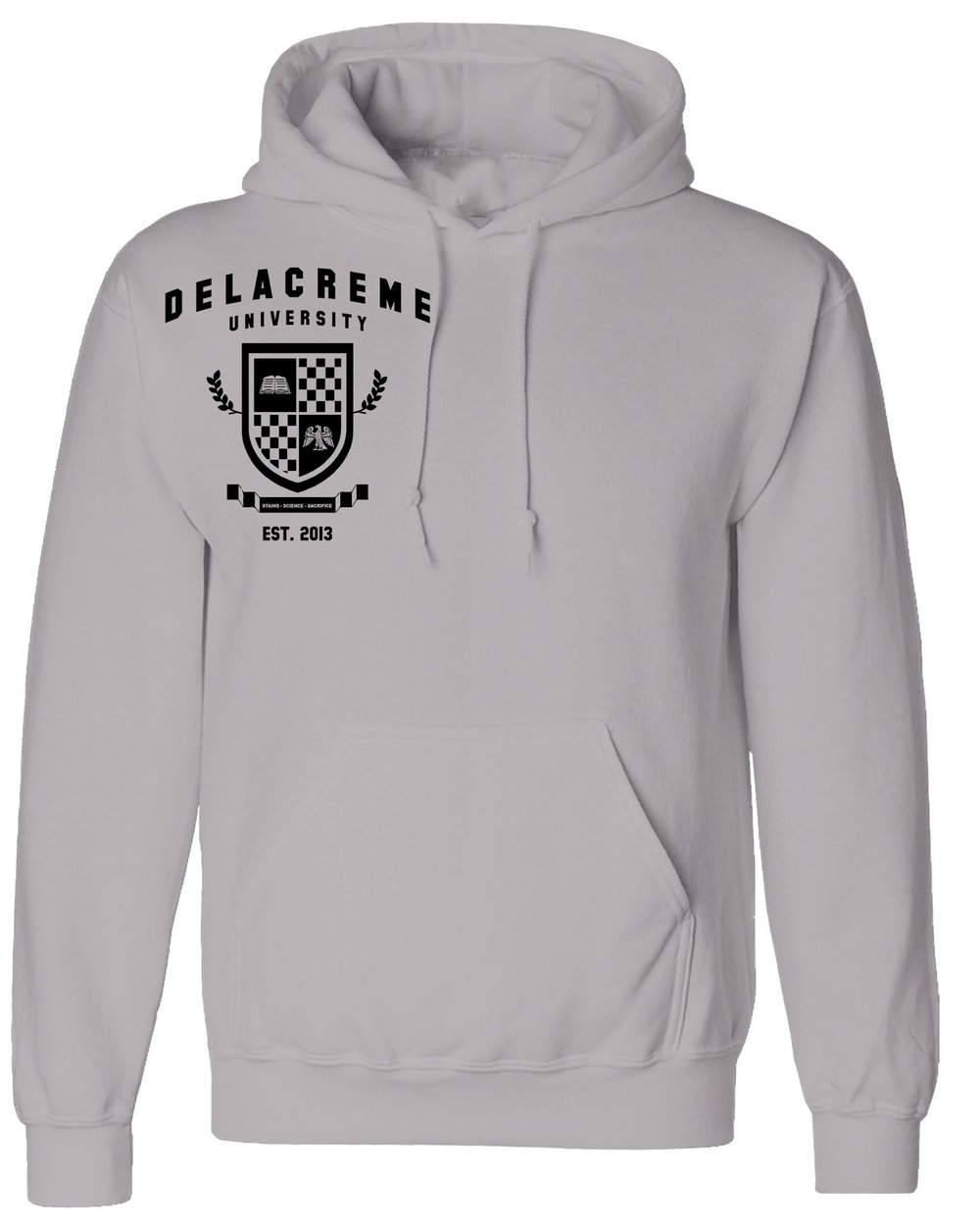 the delacreme university hoodie -sport grey