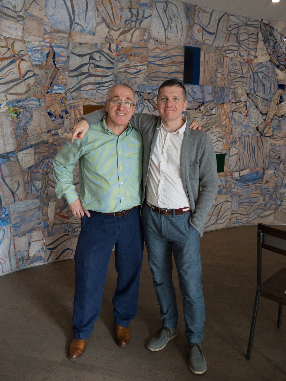 With Timur Akhriev, creative partner on the Erlanger mosaic project.