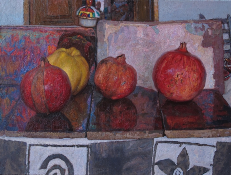 Still Life with Pommegranates