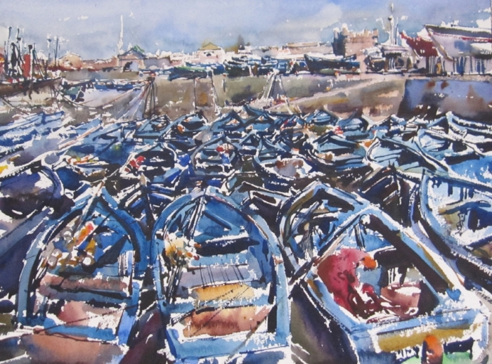 Blue Boats II