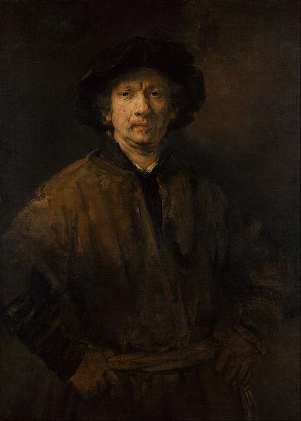Rembrandt,  Large Self Portrait , 1652, oil on canvas