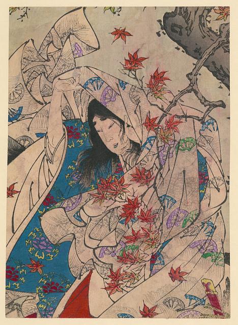 Taiso, Yoshitoshi,  Sumiyoshi no     meigetsu   , 1839-1892, woodcut