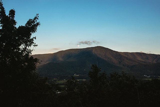 View of the Great Smoky Mountains towards twilight.