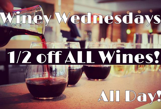 This will warm you up!  Half off ALL Wines, ALL DAY, ALL NIGHT! 🍷🍷🍷🍷#dinecityline #drinkdallas #trickyfish #winey #wine #winewednesday #whiney #whineywednesday #halfprice #richardson #deals #rihardsontx #dallasfoodblogger