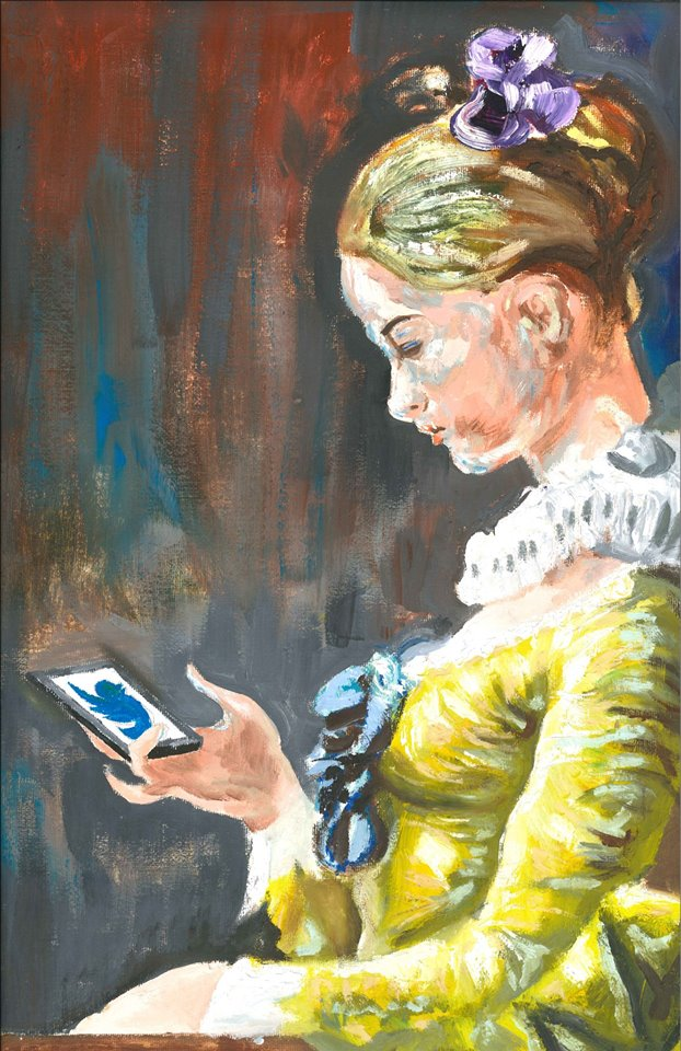A Young Girl Tweeting