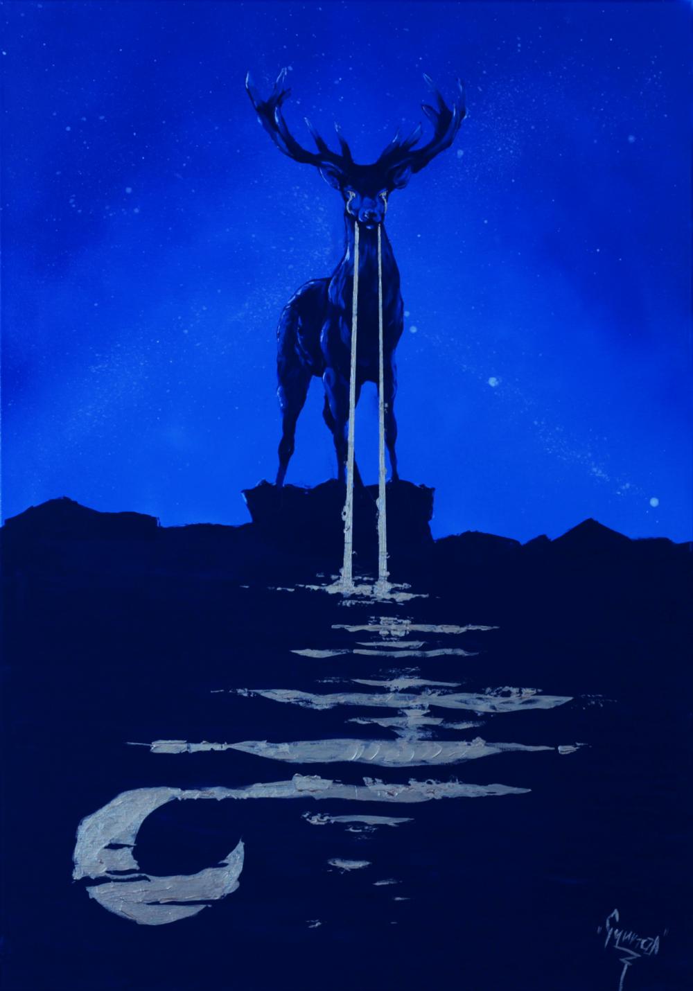 Akril, 70x100 cm vászon