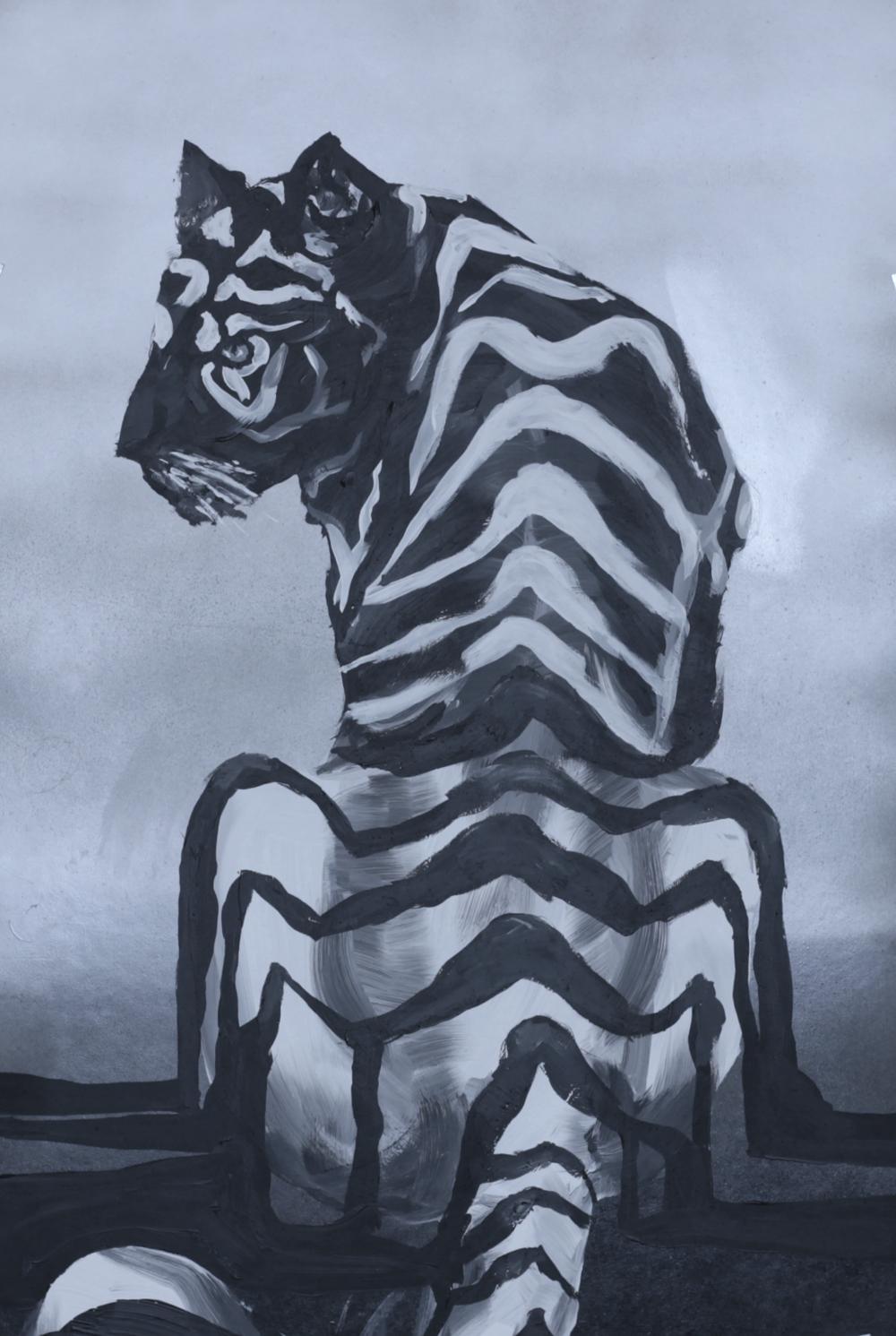 akril, 40 x 70 cm farost