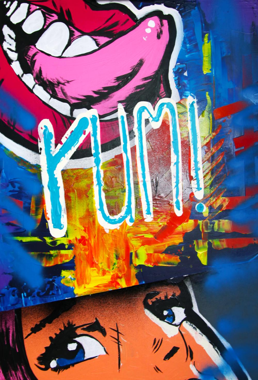 Yumm - 50 x 70 cm woodfibre and acryll; 2017 Budapest