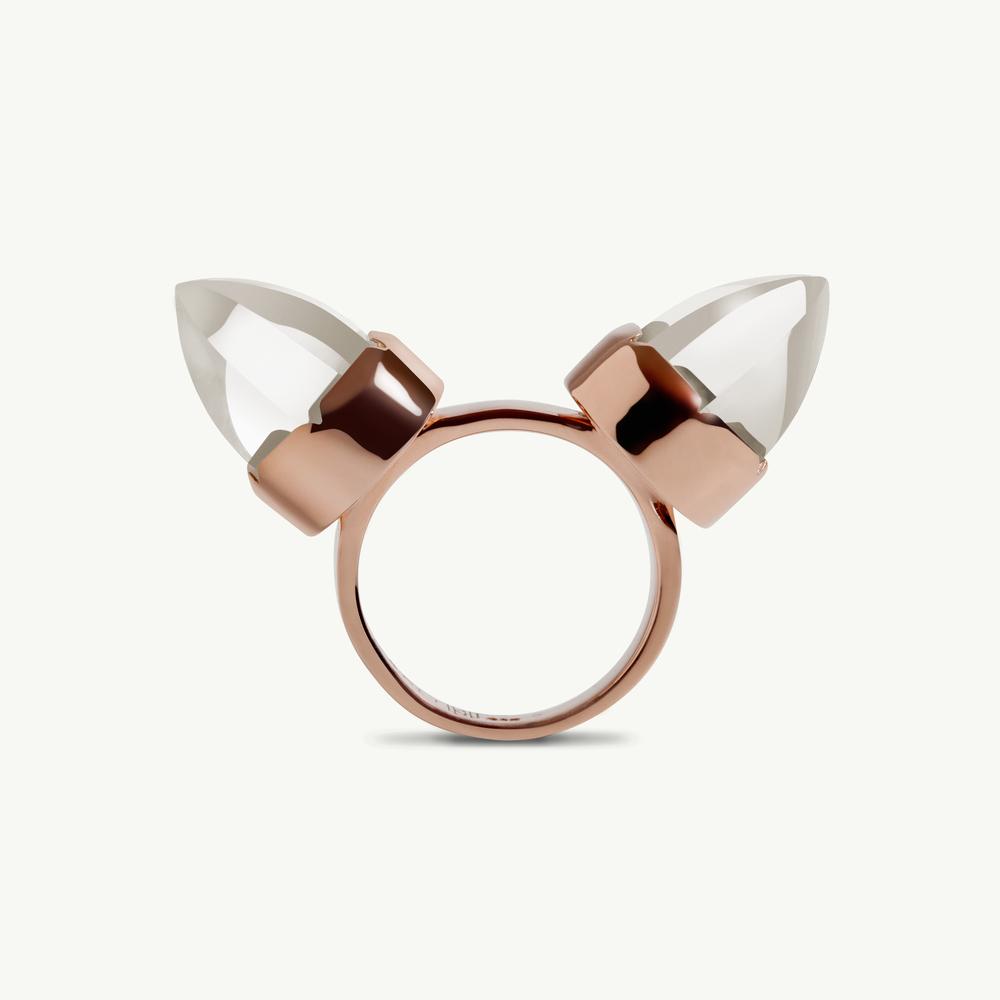 Levant Rose Gold Horn Ring