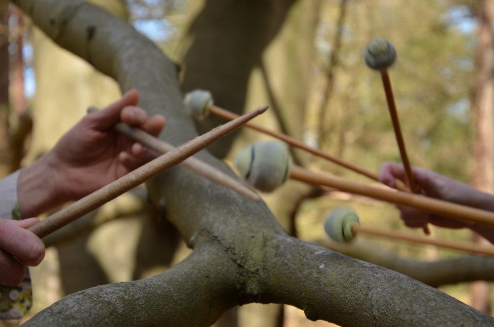 Knock on wood sticks mallets
