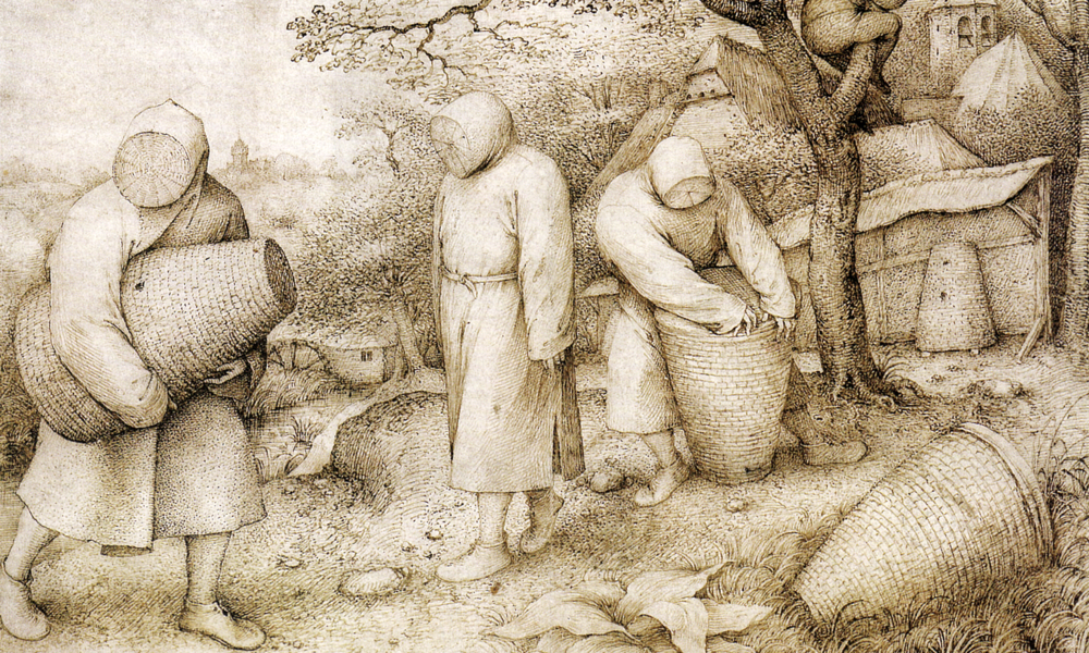 The Beekeepers  , 1568, by Pieter Brugel the Elder