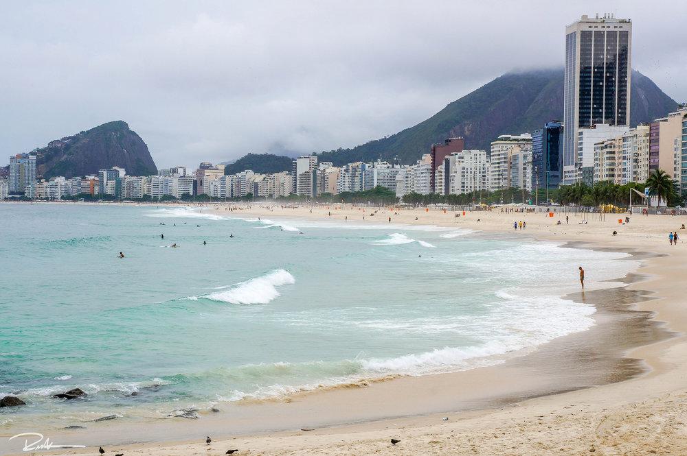 Leme district in Copacabana