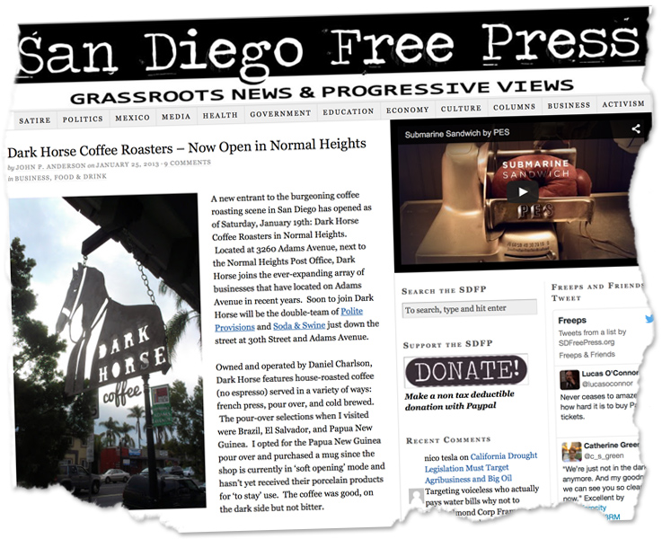 San Diego Free Press, January 2013