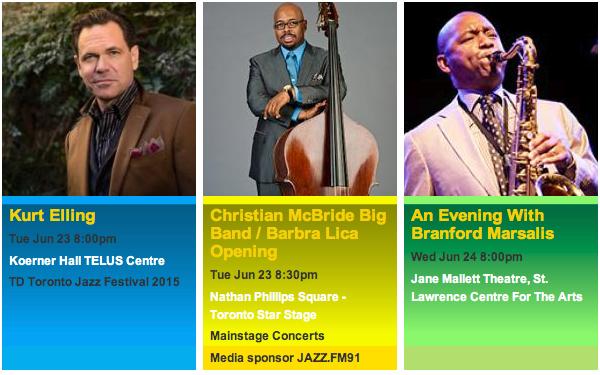 official photos from torontojazz.com - TD Toronto Jazz Festival 2015 Jun 23-24