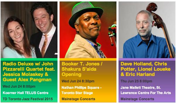 official photos from torontojazz.com - TD Toronto Jazz Festival 2015 Jun 24-25