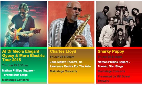 official photos from torontojazz.com - TD Toronto Jazz Festival 2015 Jun 25-26